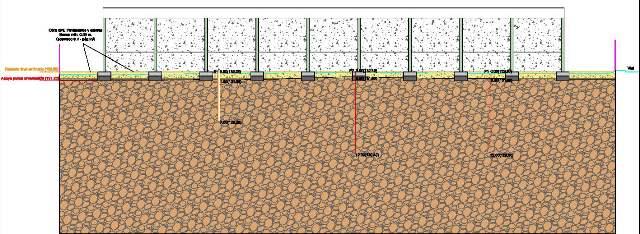 estudio cimientos, edificio, terreno y campaña